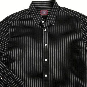 UNTUCKIT LONG SLEEVE BUTTON DOWN SHIRT LARGE BLACK